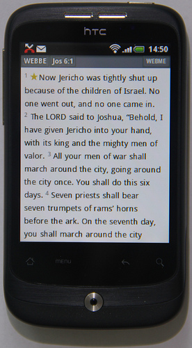 World English Bible on an Android phone