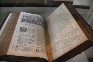 Old Bible in a clear box